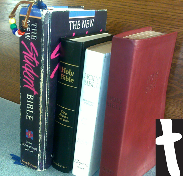 Stack of Bibles (Bible) Acronym for Bible