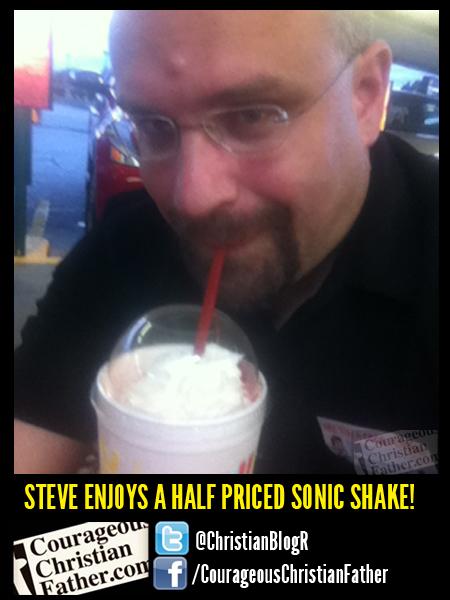Steve's Enjoys a half priced sonic shake! (Half Price Shakes)