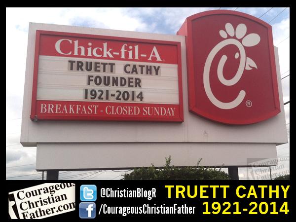 Truett Cathy, Founder Chick-fil-A, 1921-2014