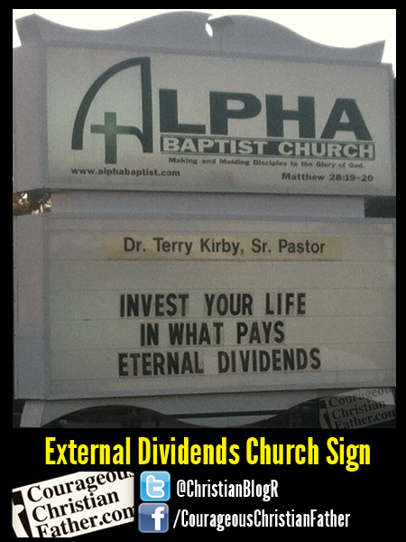 External Dividens Church Sign