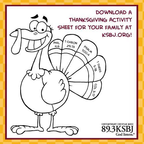 Thanksgiving fun sheet