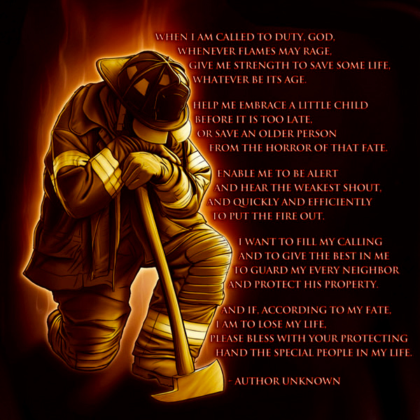 Fire Fighters Prayer