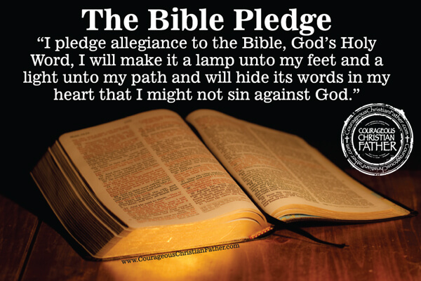 Wild image intended for pledge to the bible printable