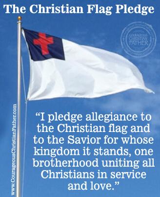 FREE VBS Printables - Christian Flag Pledge
