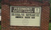 America Bless God Piedmont Baptist Church Sign