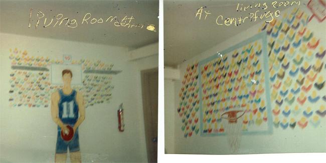 Basketball Mural inside my room at Centrifuge 1991 in Jackson, TN