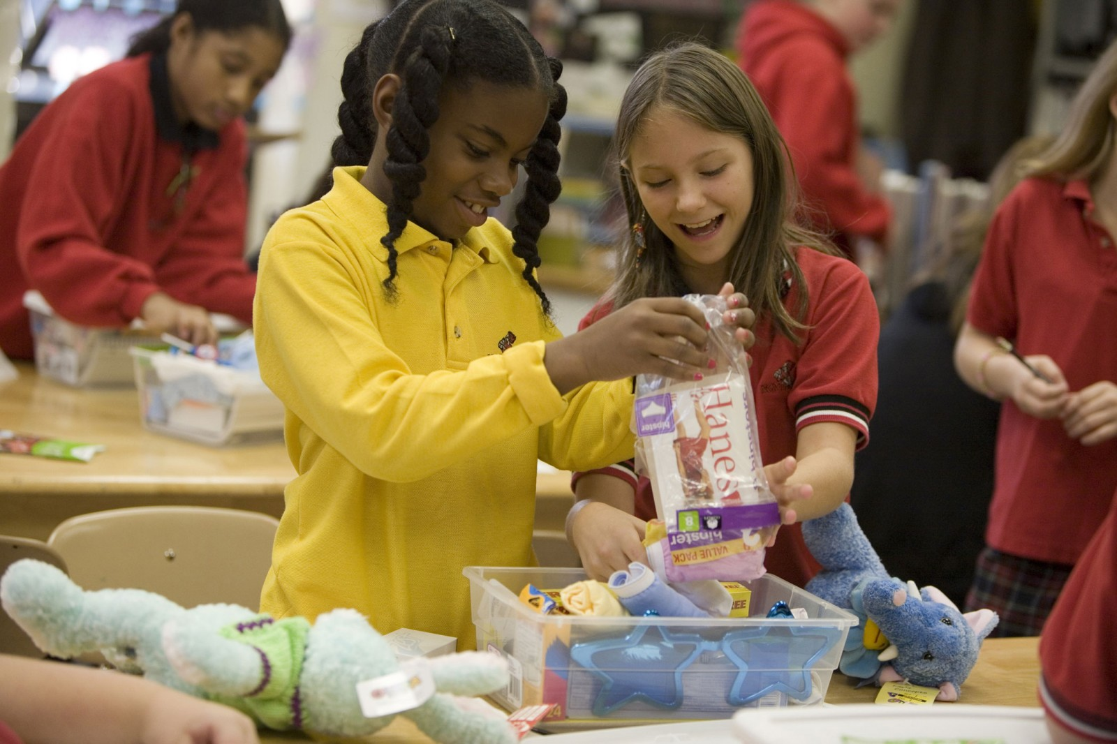 Through Operation Christmas Child, kids and families wrap and pack empty shoeboxes with simple items most people take for granted, including toys, school supplies and hygiene items. - Retail Chain Hobby Lobby Joins Effort to Make Christmas a Reality for 12 Million Children -