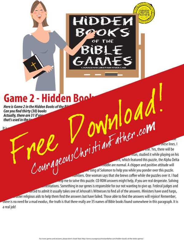 Hidden Books of the Bible - Game 2