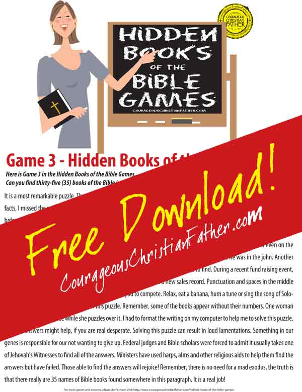 Hidden Books of the Bible - Game 3