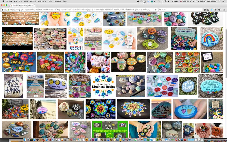 Kindness Rocks (Screen Shot from Google Images) #KindnessRocks