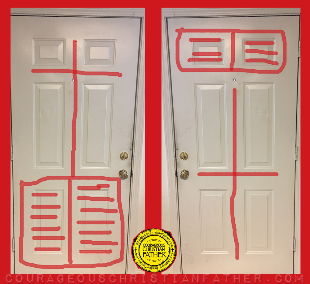 sc 1 st  Courageous Christian Father & The 6 Panel Door: The Cross \u0026 The Bible | Courageous Christian Father