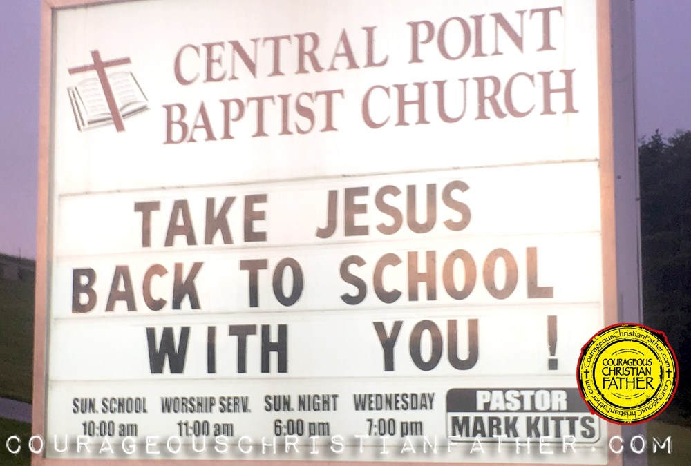 Take Jesus Back to School With You - Central Point Baptist Church - Rutledge, TN