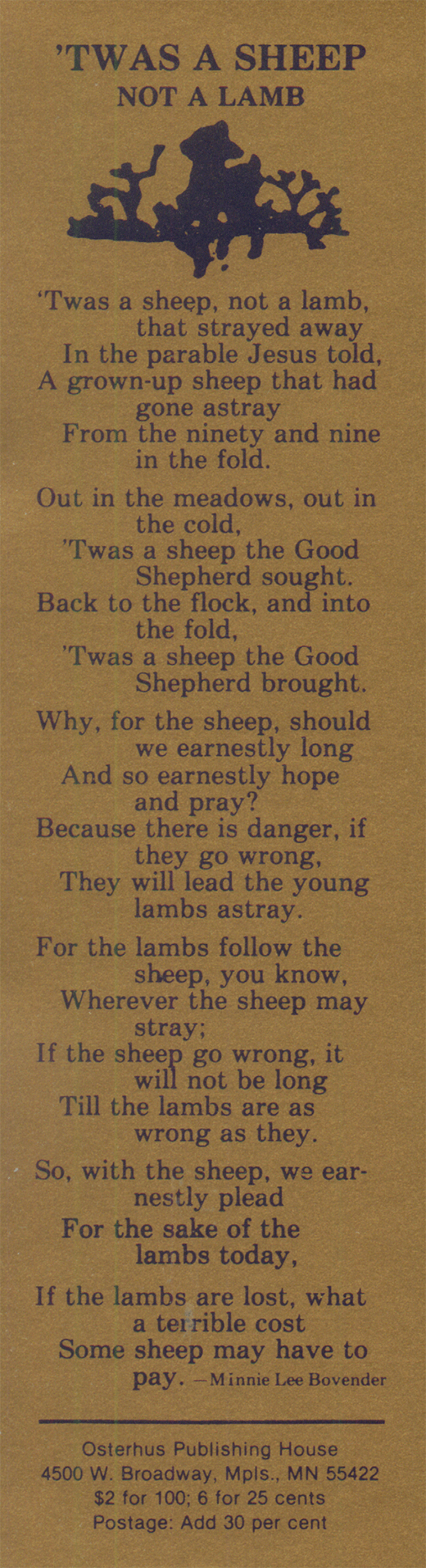 Twas A Sheep Not A Lamb