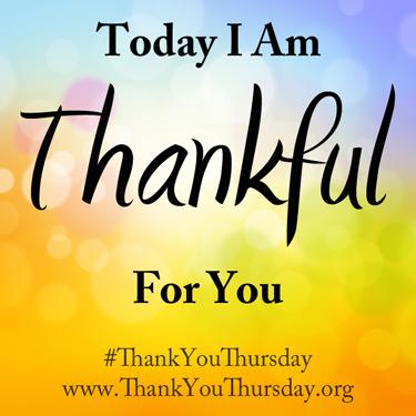 Thank You Thursday #ThankYouThursday