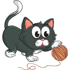 Playing with yarn is fine. But if a cat eats it, it could be a sign of a medical condition known as pica.