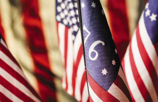 Festive facts for July 4th - 76 Flag