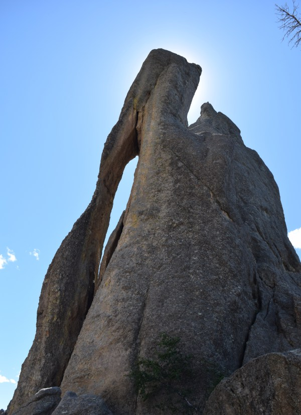 The Eye of the Needle Rock formation | This formation is in South Dakota along the Needles Highway | Photo Compliments of Truck Camper Adventure
