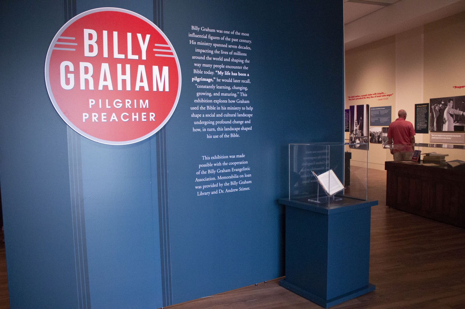 Museum of the Bible's temporary exhibit titled Pilgrim Preacher: Billy Graham, the Bible and the Challenges of the Modern World is located on the museum's fifth floor and runs through Jan. 27, 2019.