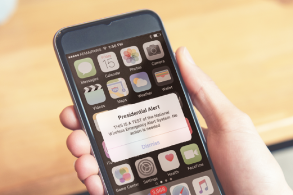 First Nationwide Text Alert Test - On Wednesday, October 3, 2018 around 2:18 p.m. everyone's phone will go off at the same time with a text alert.