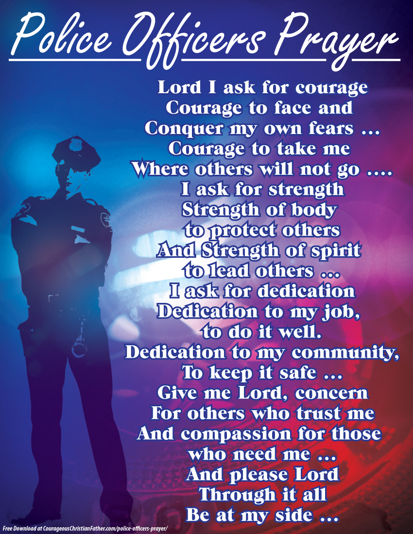 Police Officers Prayer Printable
