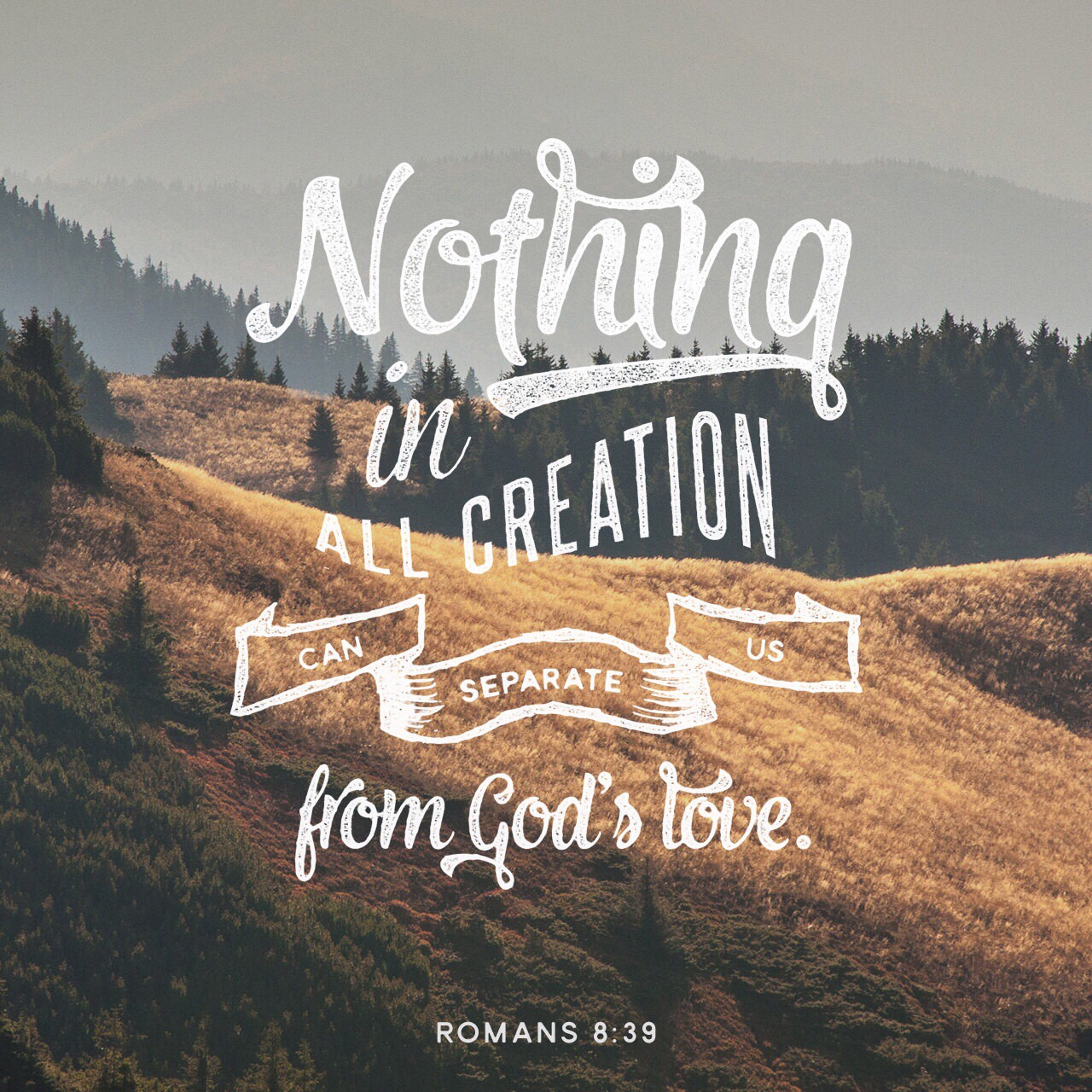 """VOTD June 11, 2019 """"For I am convinced that neither death, nor life, nor angels, nor principalities, nor things present, nor things to come, nor powers, nor height, nor depth, nor any other created thing, will be able to separate us from the love of God, which is in Christ Jesus our Lord."""" ROMANS 8:38-39 NASB"""