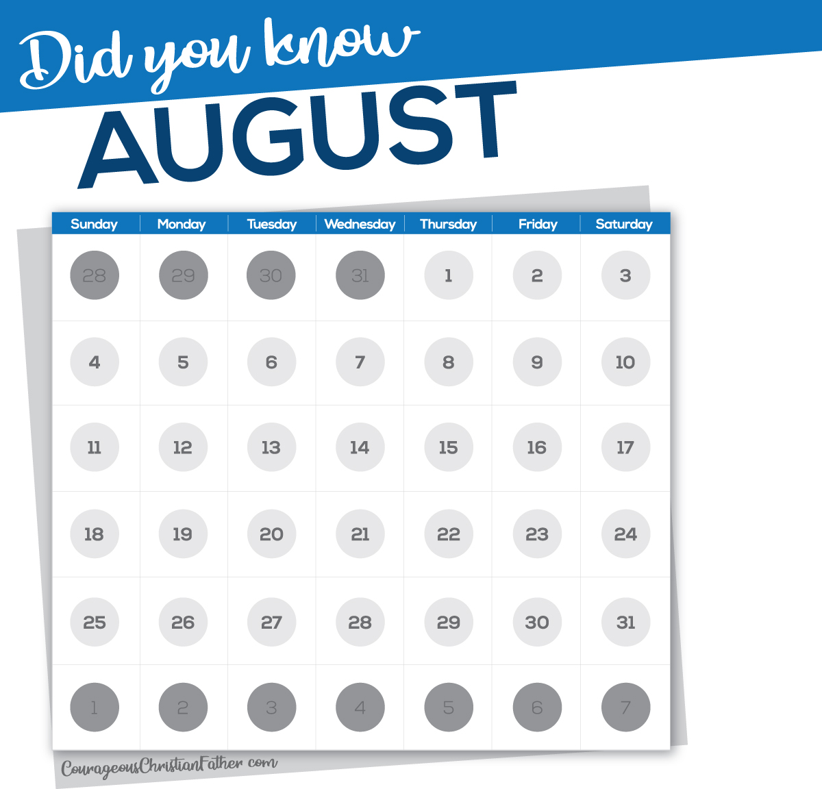 "The month of August is named in honor of Augustus Caesar and previously went by the name ""Sextilis."" #August"