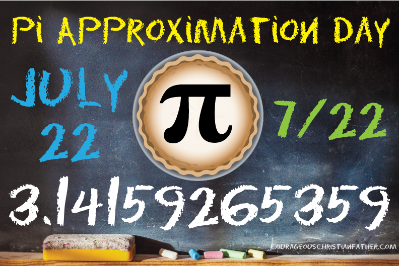 Pi Approximation Day - another math holiday. But wait it isn't March 14th, how did you get that today is a Pi holiday? Well read on ...
