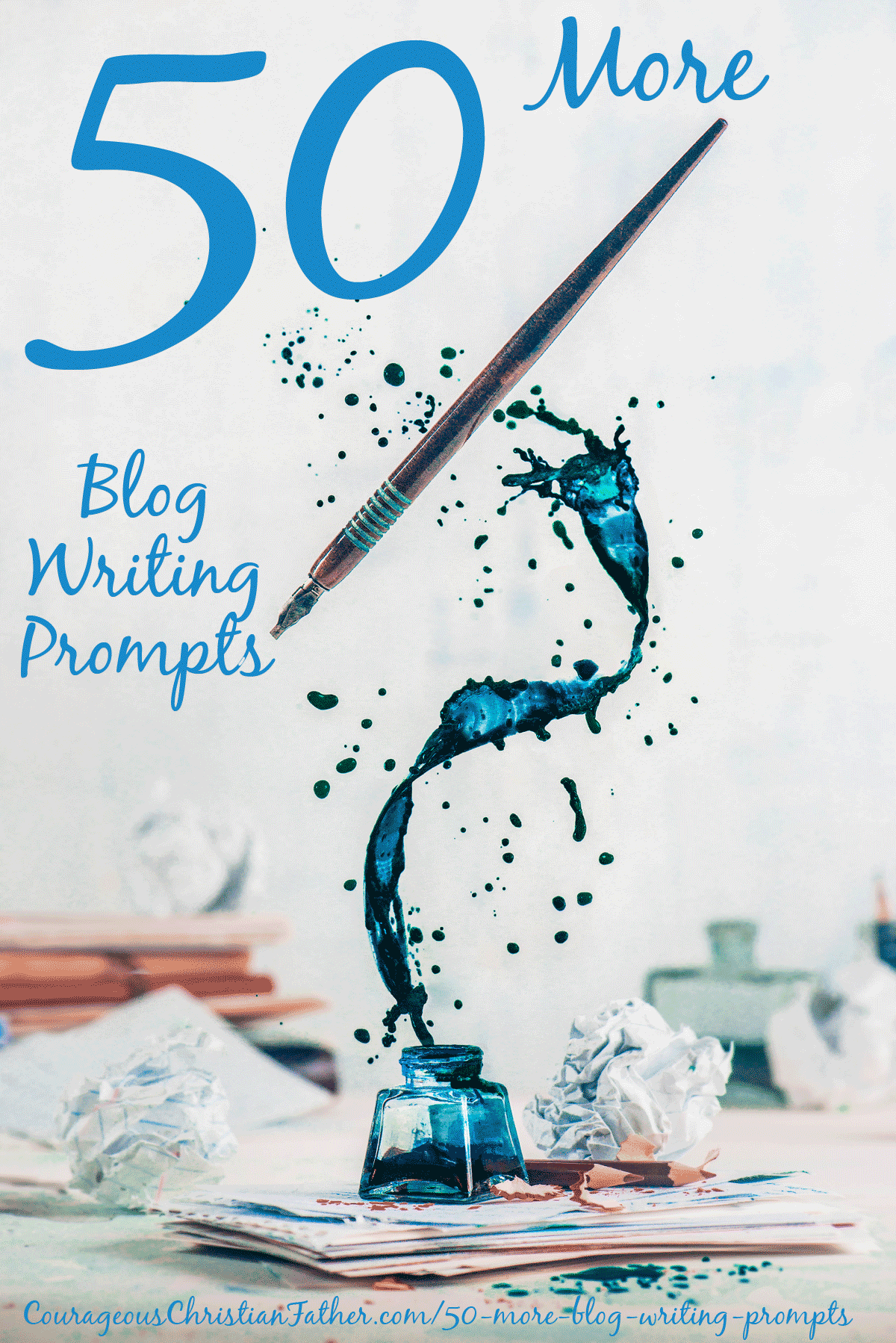 50 More Blog Writing Prompts - Can't think of something to write on your blog. Check out these 50 blog writing prompts. #WritingPrompts