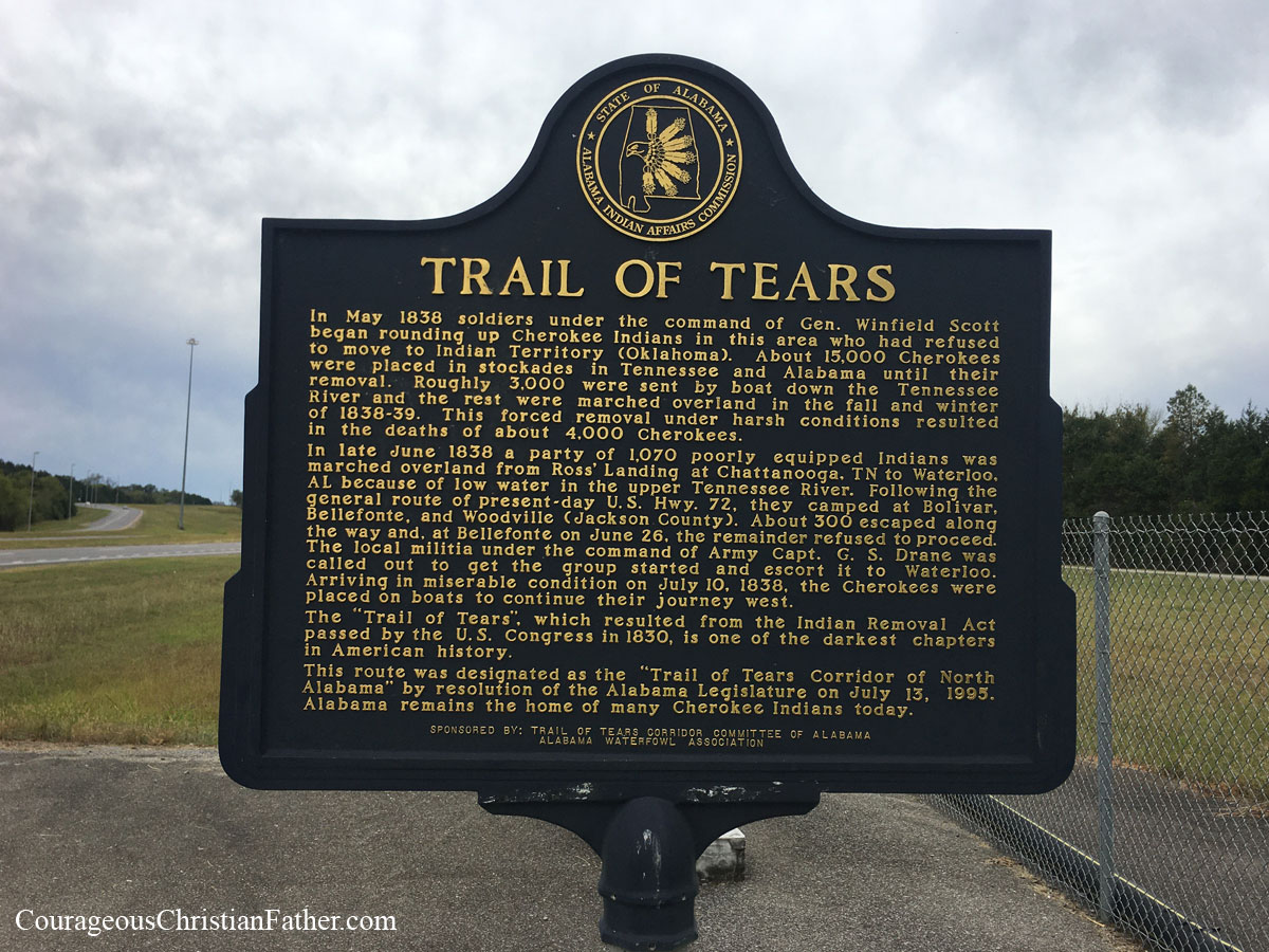 Trail of Tears State Marker - Alabama - This will be this week's Travel Thursday feature is near Bridgeport, AL. #TrailofTears