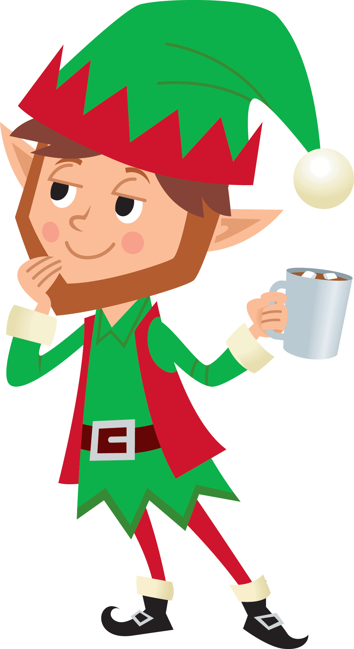 An Elves Day Off - Follow along on the adventure of an elf enjoying his day off from making toys for all of the children of the world.