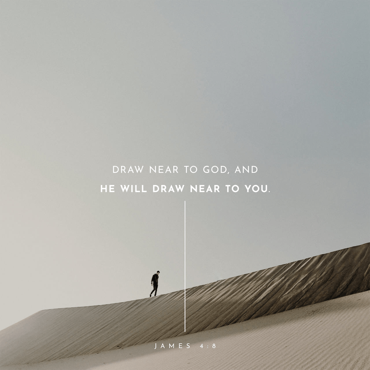 "VOTD April 16 - ""Draw near to God and He will draw near to you. Cleanse your hands, you sinners; and purify your hearts, you double-minded."" ‭‭James‬ ‭4:8‬ ‭NASB‬‬"