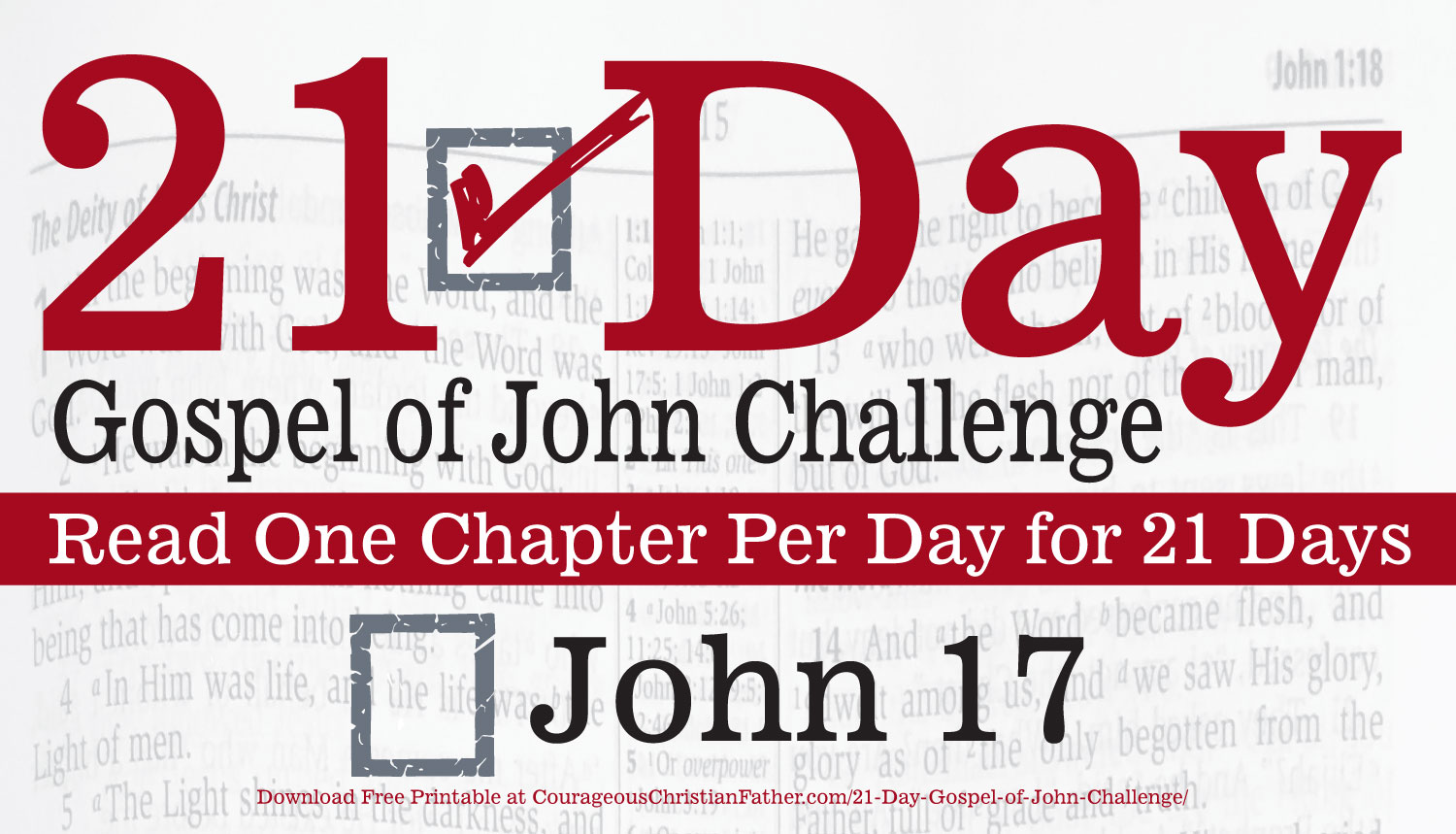 John 17 - Today is Day 17 of the 21 Day Gospel of John Challenge. Today read the 17th Chapter of the Gospel of John. #John17 #BGBG2