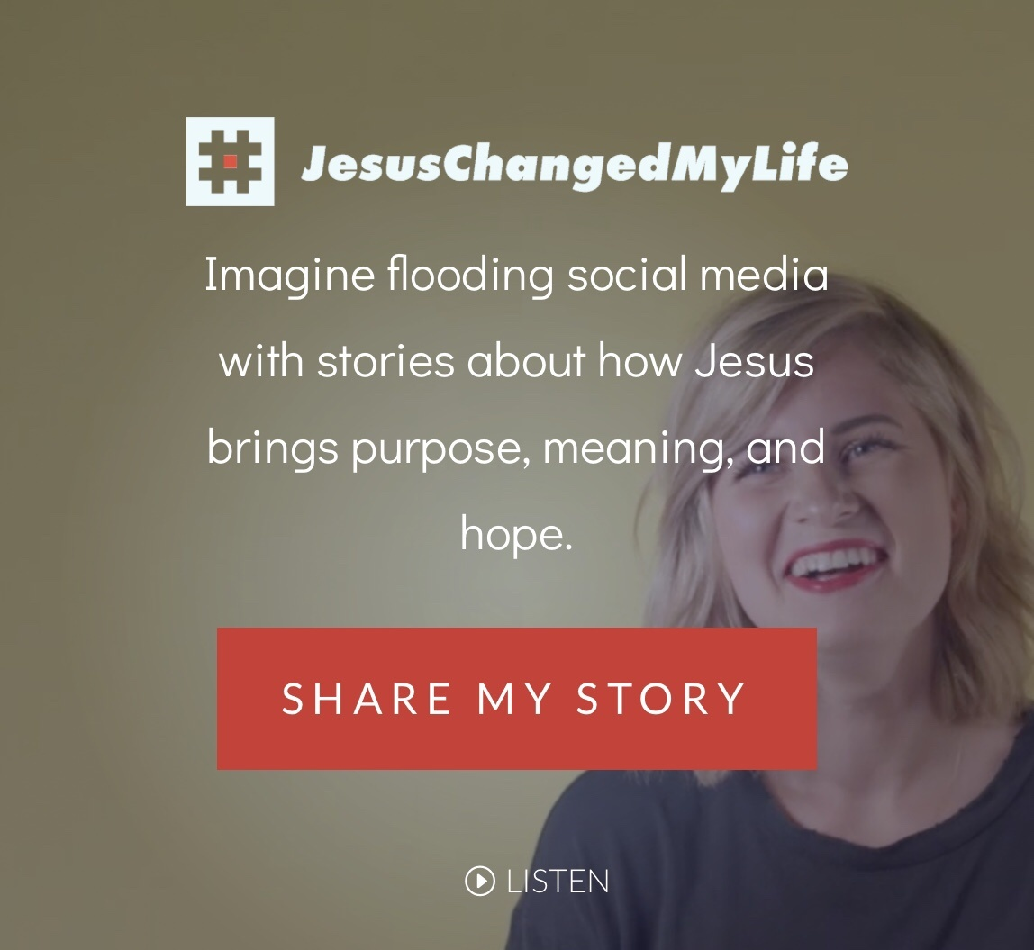#JesusChangedMyLife - Imagine flooding social media with stories about how Jesus brings purpose, meaning, and hope. (Way-FM). Let's flood social media with that hashtag.