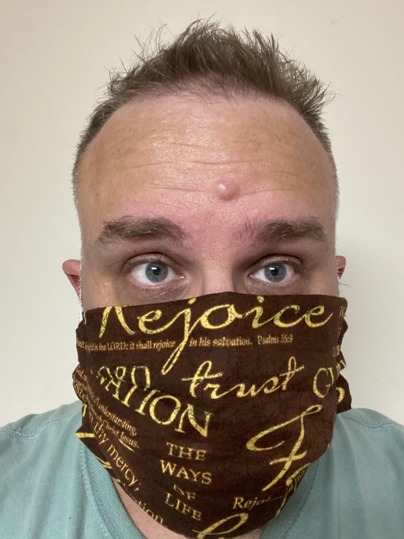 Rejoice Trust Faith Face mask