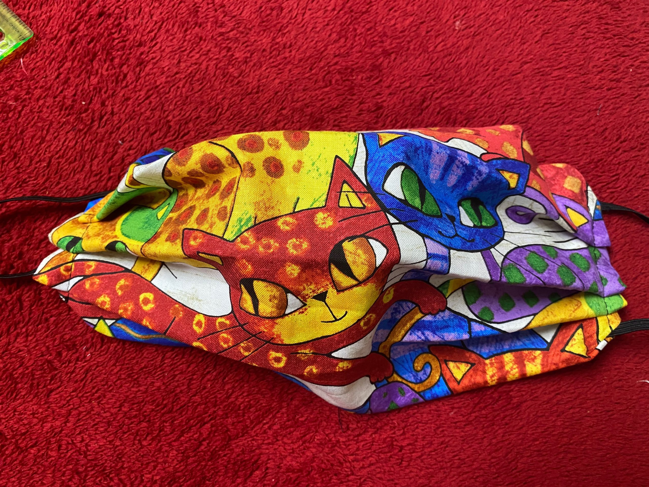 Colorful Cat Face Mask #Cats #FaceMask