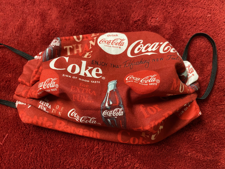 Coca-Cola Face Mask #CocaCola #FaceMask